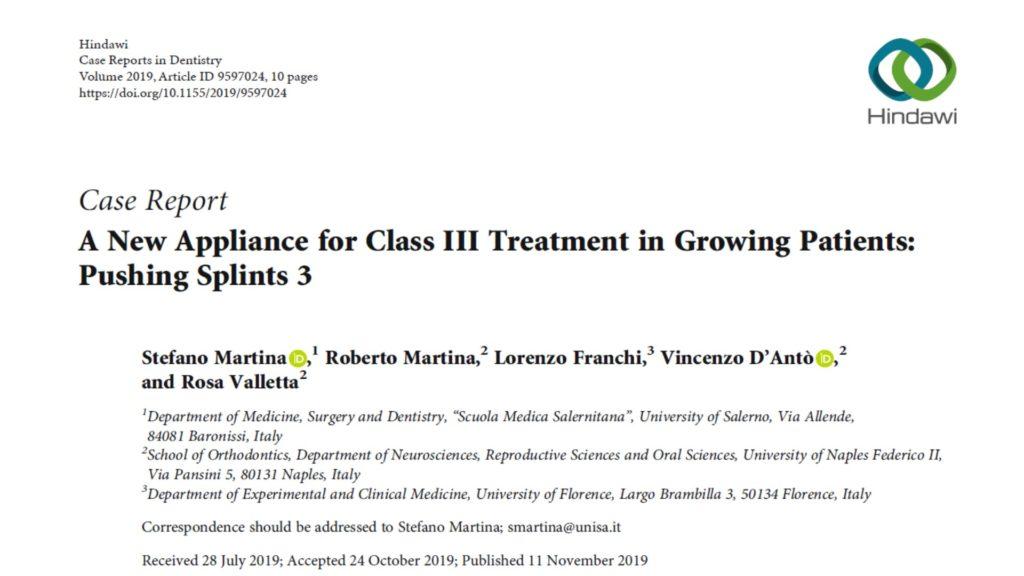 Il trattamento ortopedico delle Classi III